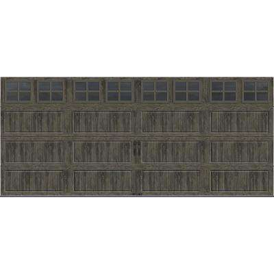 Gallery Collection 16 ft. x 7 ft. 18.4 R-Value Intellicore Insulated Ultra-Grain Slate Garage Door with SQ22 Window