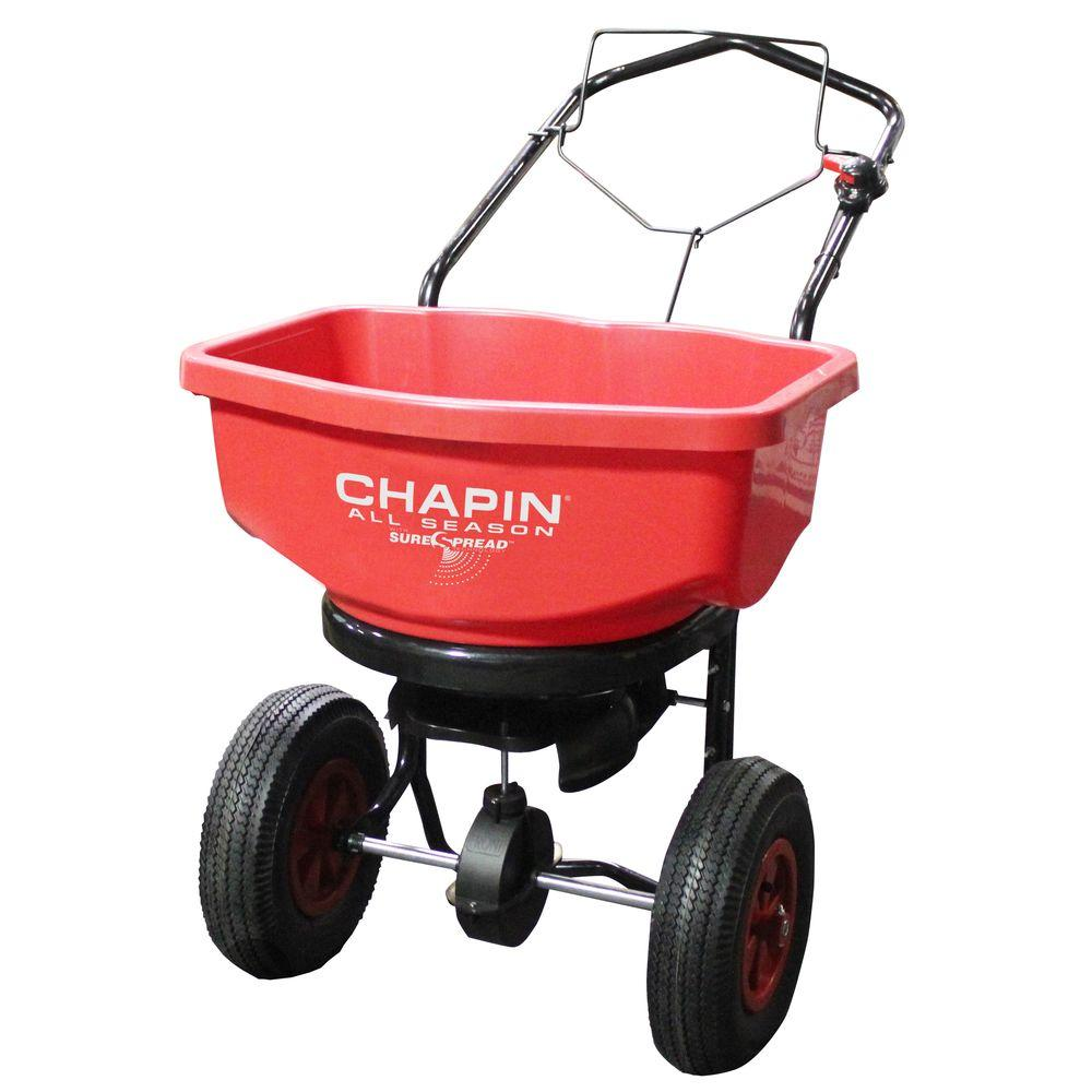 Broadcast Spreader Turf : Chapin lb capacity all season broadcast spreader