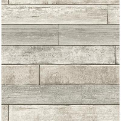 56.4 sq. ft. Wallace Taupe Timber Wallpaper
