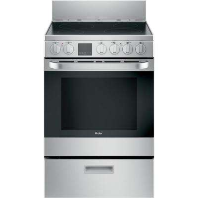 24 in. 2.9 cu. ft. Electric Range with Self-Cleaning Convection Oven in Stainless Steel