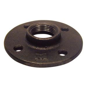 1 in. Black Malleable Iron Threaded Floor Flange