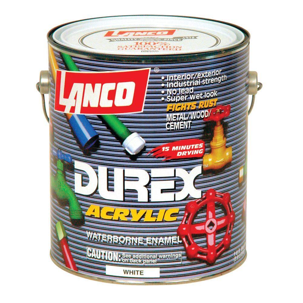 Durex 1 Gal. Acrylic White Interior/Exterior Paint