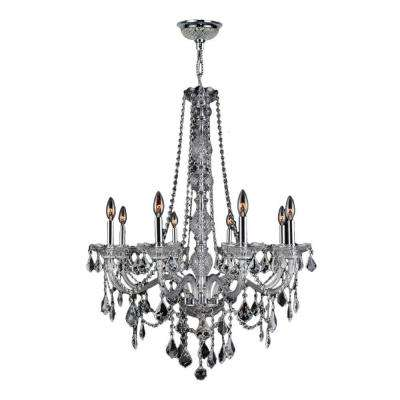 Provence Collection 8-Light Chrome and Clear Crystal Chandelier