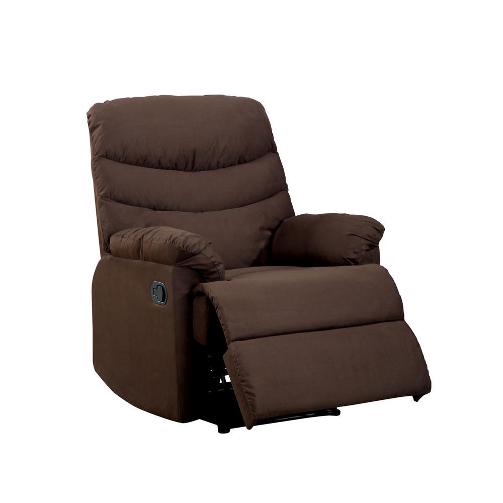 Bardi Brown Microfiber Recliner Chair
