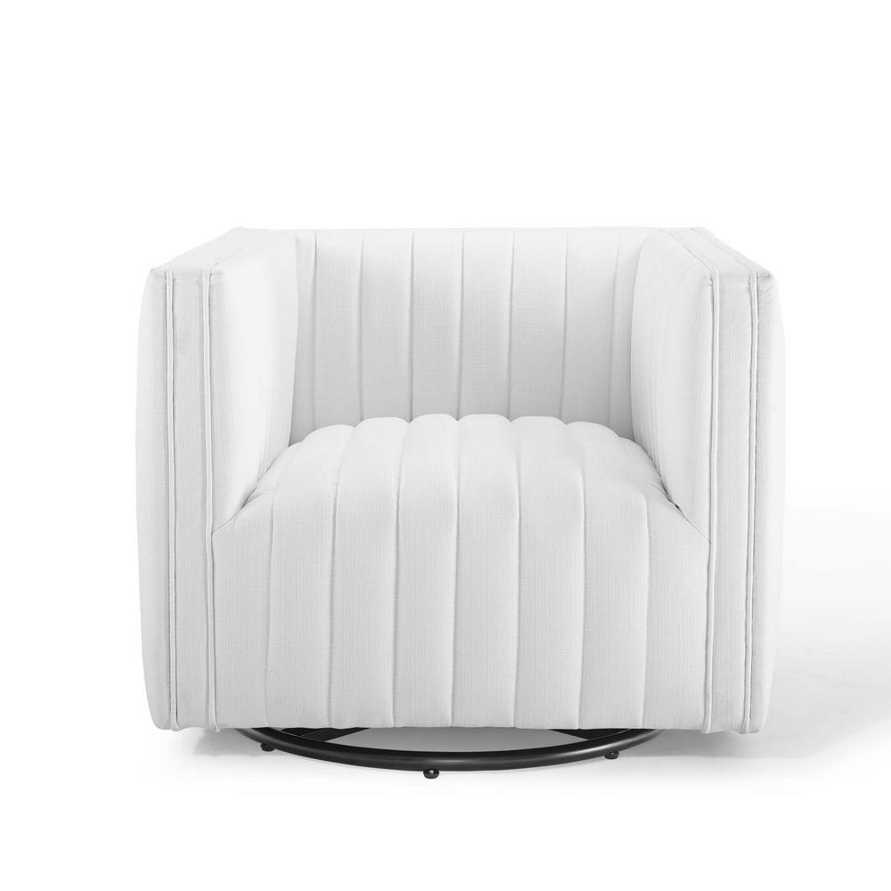 Modway Perception White Tufted Swivel