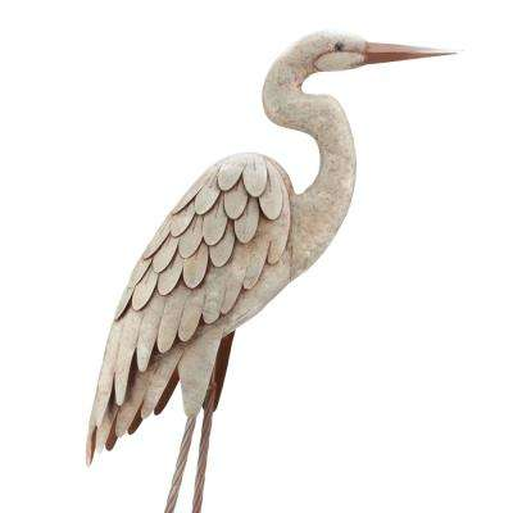 Egret Classic Pose Garden Statuary
