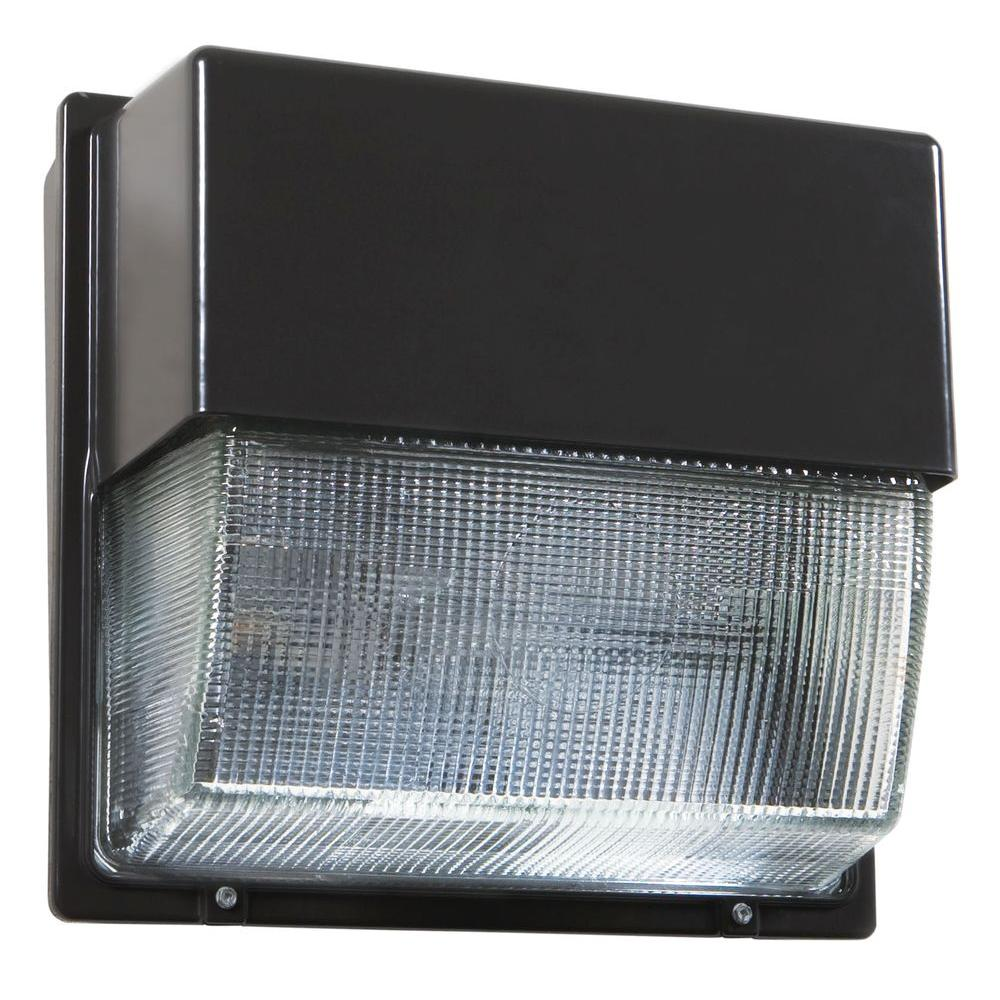 Led Wall Pack Installation: Lithonia Lighting Bronze Outdoor Integrated LED 4000K Wall