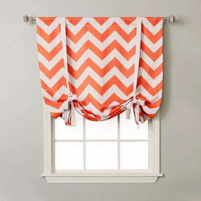 Chevron 42 in. W X 63 in. L Drapery Panel in Orange