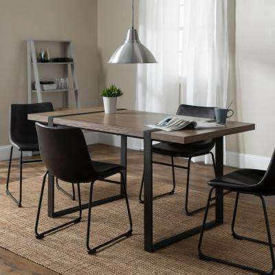 Urban Blend 5-Piece  Driftwood/Black Dining Set