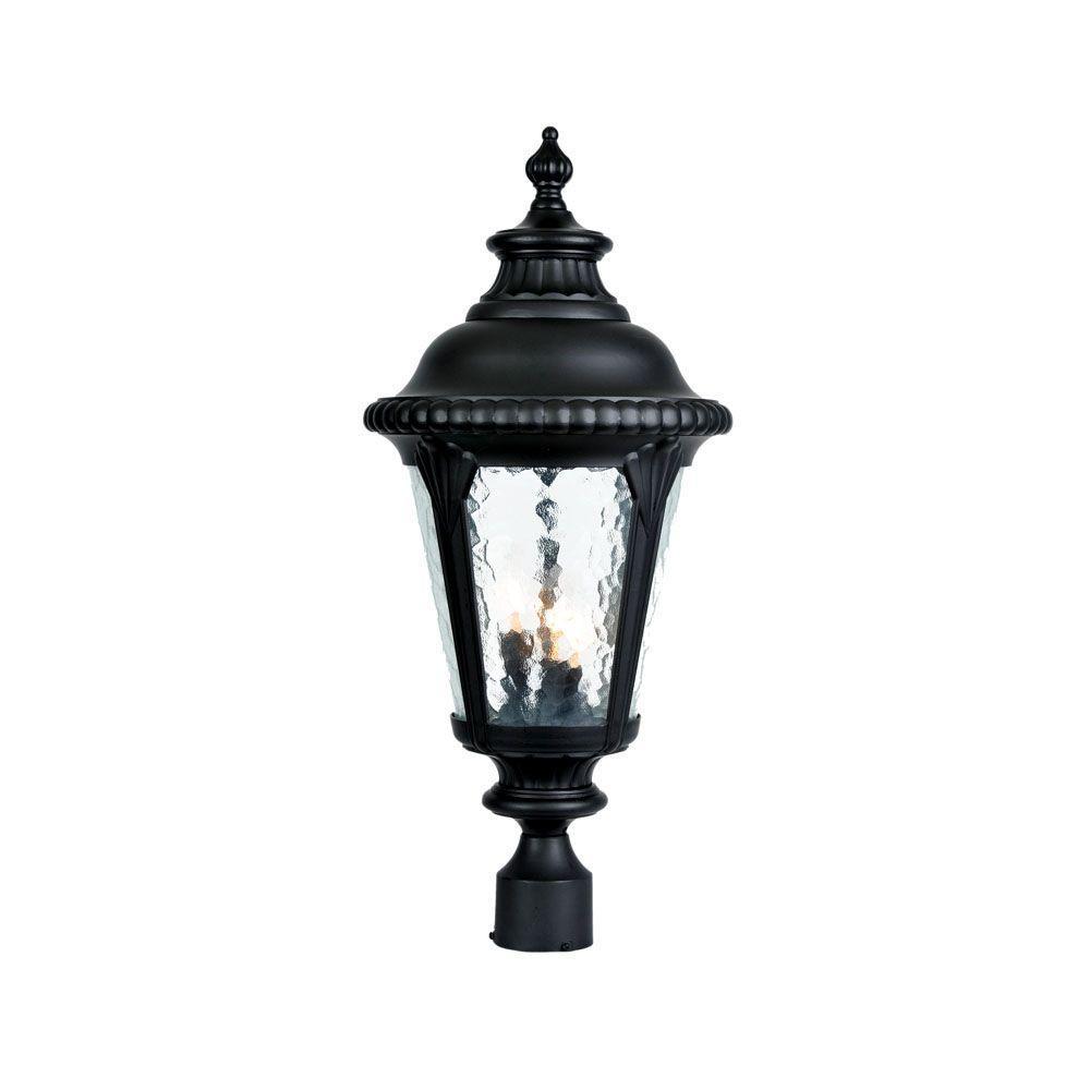 Acclaim Lighting Somerset 1 Light Matte Black Outdoor Post: Acclaim Lighting Surrey 3-Light Matte Black Outdoor Post
