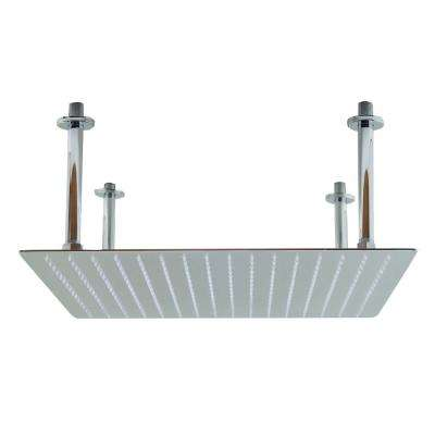 1-Spray 20 in. Fixed Showerhead with Ultra Thin Design in Polished Stainless Steel