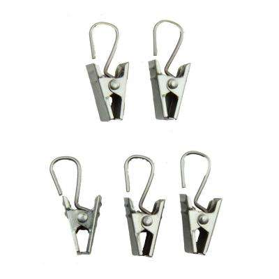 Clips with Hooks in Satin Nickel (Set of 24)