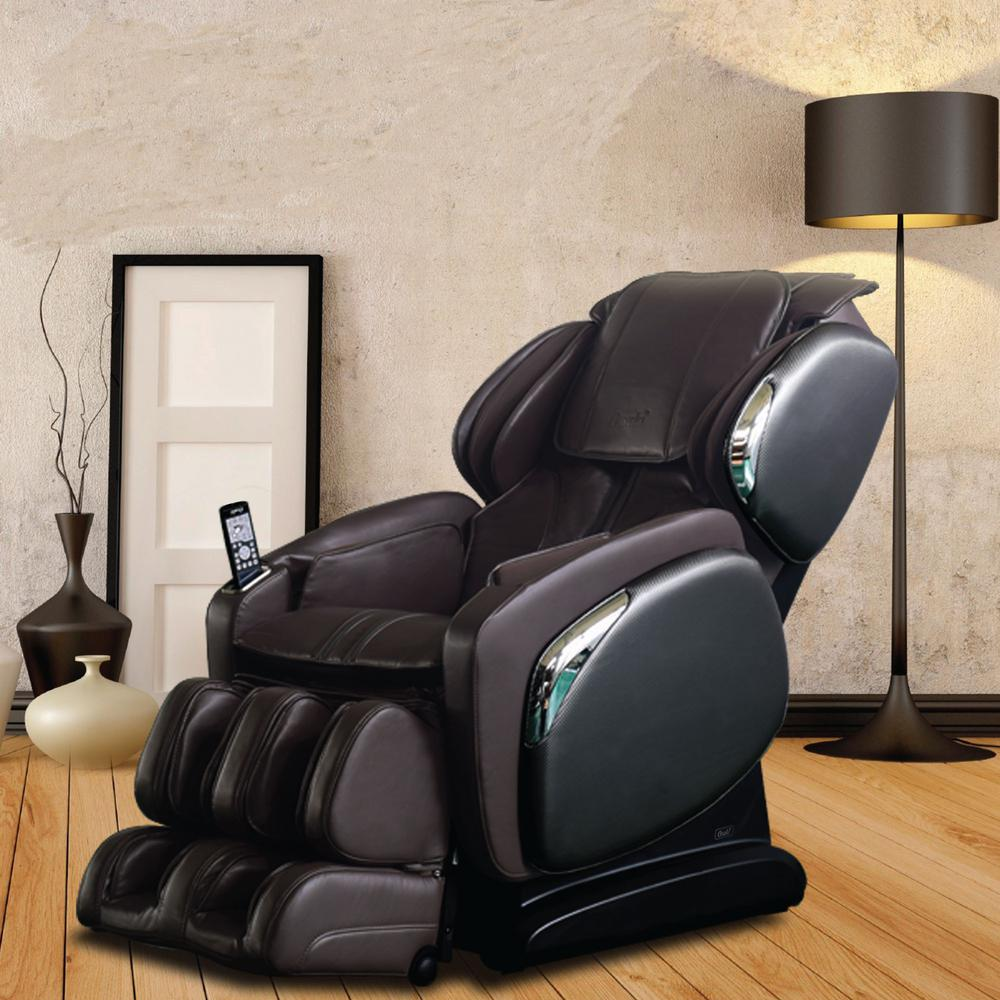 Charmant TITAN Osaki Brown Faux Leather Reclining Massage Chair
