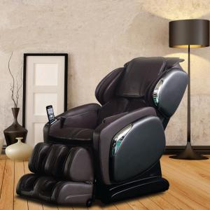 TITAN Osaki Brown Faux Leather Reclining Massage Chair (Black)