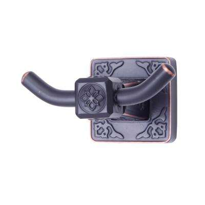 Reno Series Double Robe Hook in Oil Rubbed Bronze