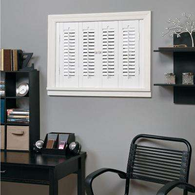 Attractive Traditional Faux Wood White Interior Shutter (Price Varies By Size)