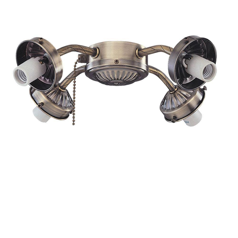 Royal Pacific 4-Light Antique Brass Fitter