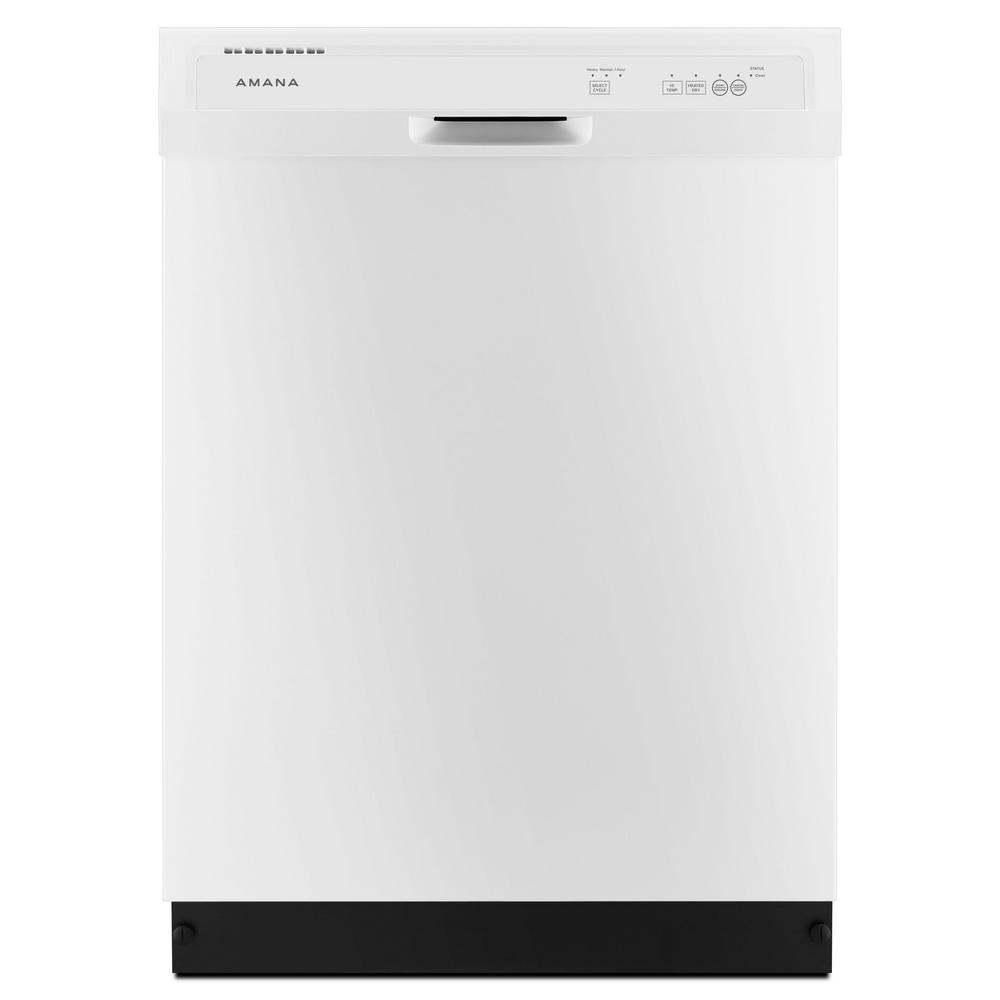 Front Control Built-In Tall Tub Dishwasher in White with Triple Filter Wash System, 63 dBA