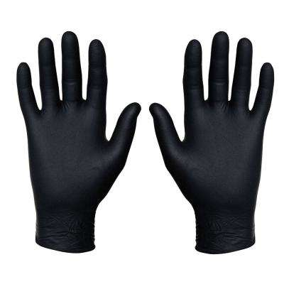 Medium Black Food Safe Nitrile Food Service Gloves (50-Pairs)