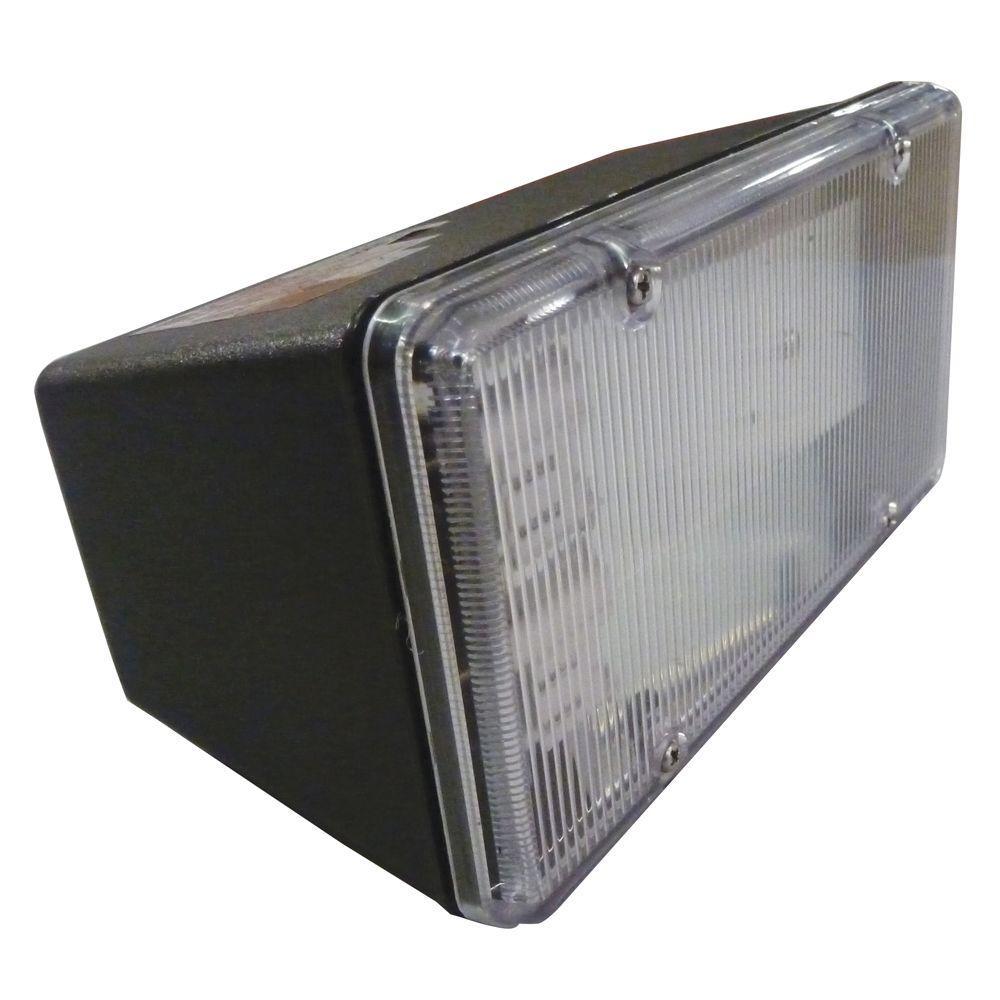 Multi Use Wall Mount 2 Light Outdoor Black Fluorescent Flood Light