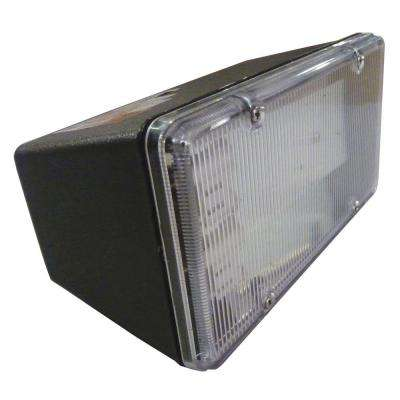 Multi-Use Wall Mount 2-Light Outdoor Black Fluorescent Flood Light