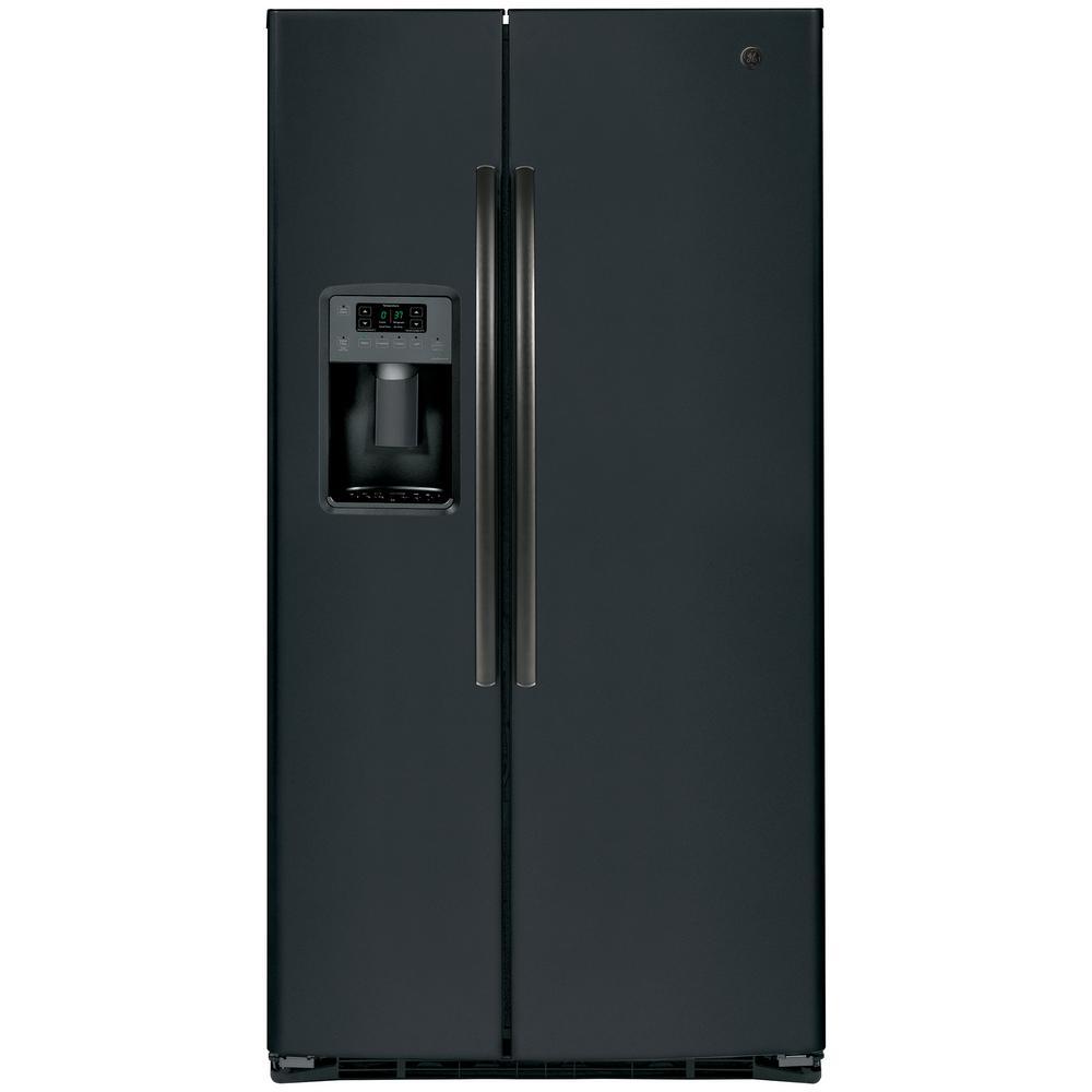 Adora 25.3 cu. ft. Side by Side Refrigerator in Black Slate, Fingerprint Resistant and ENERGY STAR