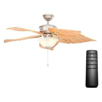 Costa Mesa 56 in. LED Brushed Nickel Ceiling Fan with Light Kit and Remote Control
