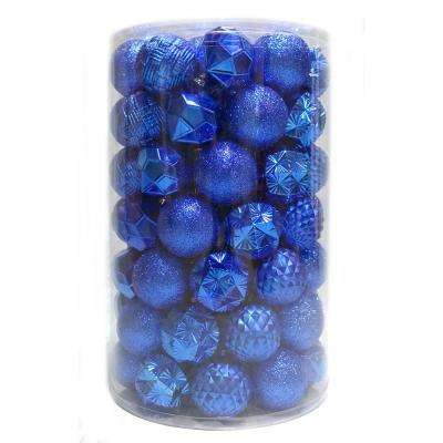 Holiday Traditions 3  in. Ornament Tube in Blue (75-Count)