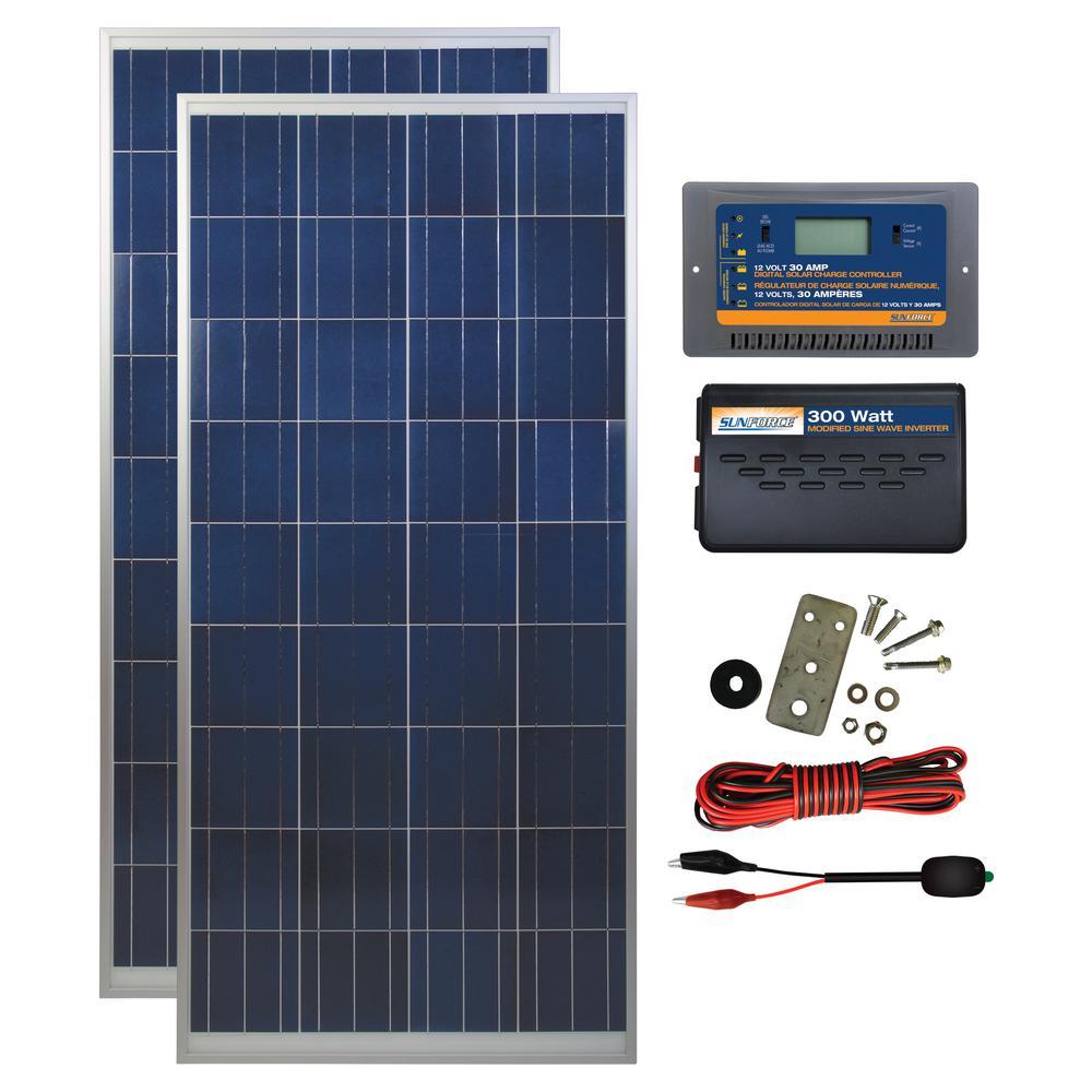 300-Watt Polycrystalline Solar Panel Kit