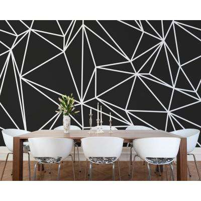 Black Vertex Wall Mural