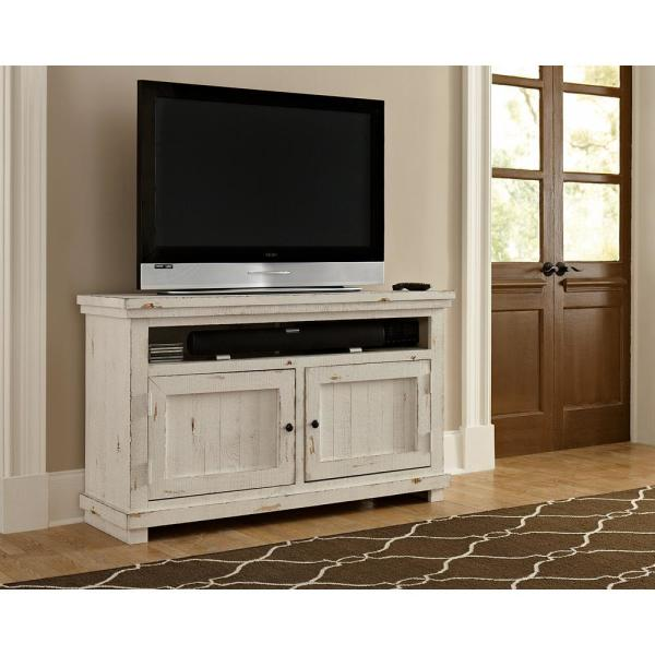 Progressive Furniture Willow 54 in. Distressed White Entertainment Console P610E-54