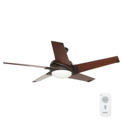 Stealth 54 in. Indoor Maiden Bronze Ceiling Fan with Universal Wall Control