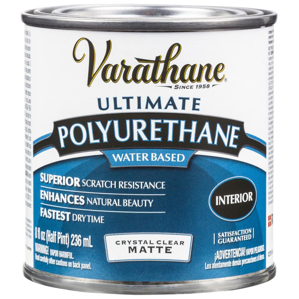 Varathane 8 oz. Clear Matte Water-Based Interior Polyurethane