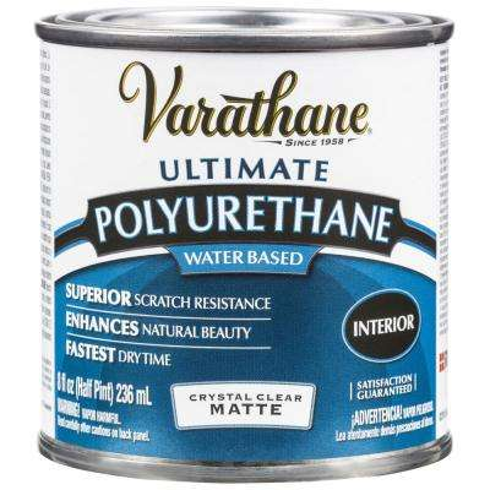 8 oz. Clear Matte Water-Based Interior Polyurethane