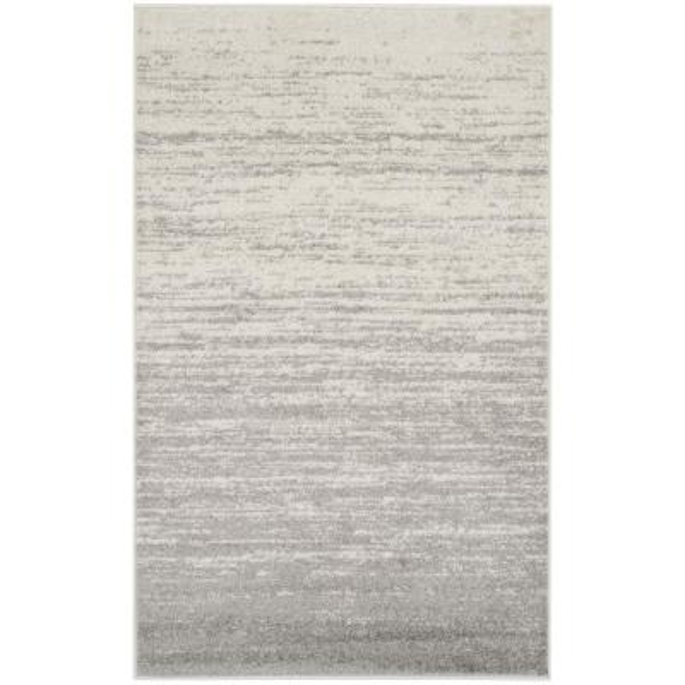 Adirondack Ivory/Silver 3 ft. x 5 ft. Area Rug
