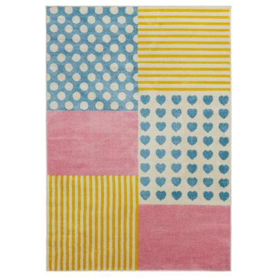 Whimsical Cream/Yellow 5 ft. x 7 ft. Indoor Area Rug