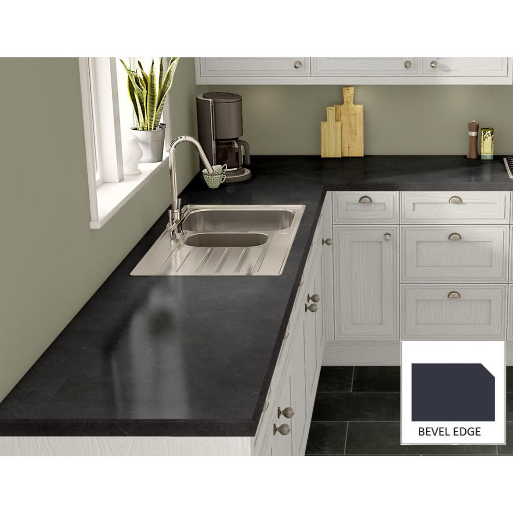 Wilsonart Black Alicante Laminate Custom Bevel Edge C F