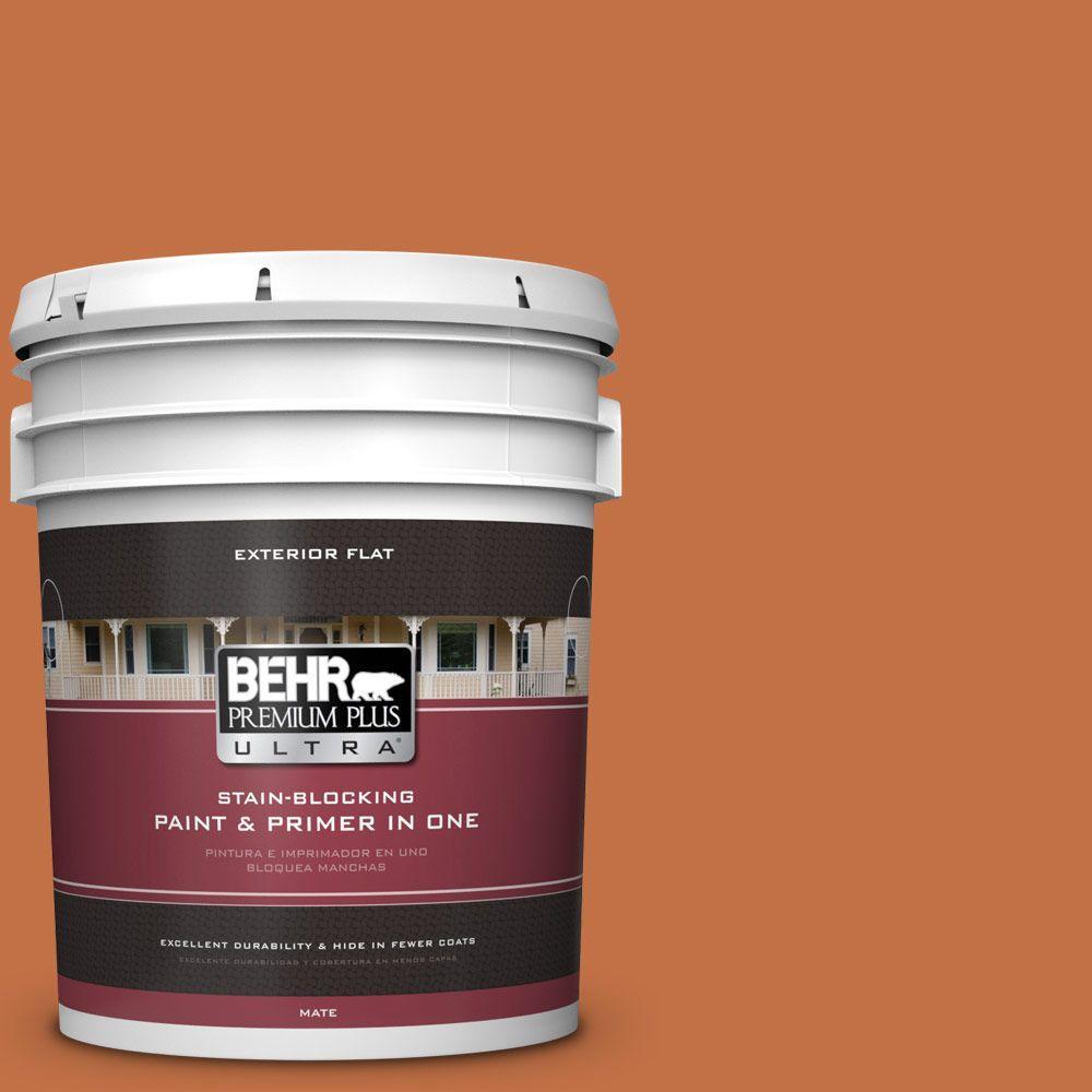 BEHR Premium Plus Ultra 5-gal. #M220-7 Jack O Lantern Flat Exterior Paint