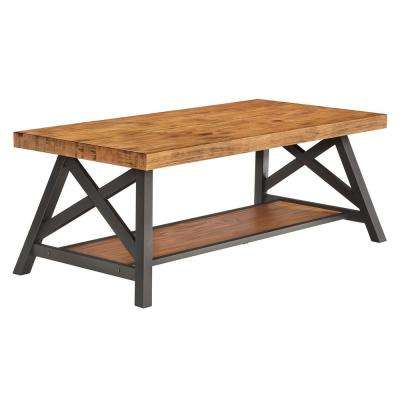 Oak Cocktail Table With Shelf