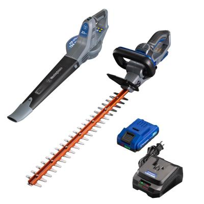 20-Volt Cordless Hedge Trimmer and Leaf Blower Combo Kit (2-Tool) 2.0 Ah Battery and Rapid Charger Included