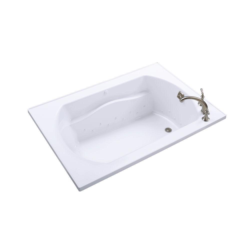 STERLING Lawson 5 ft. Rectangular Drop-in Air Bath Tub in White ...