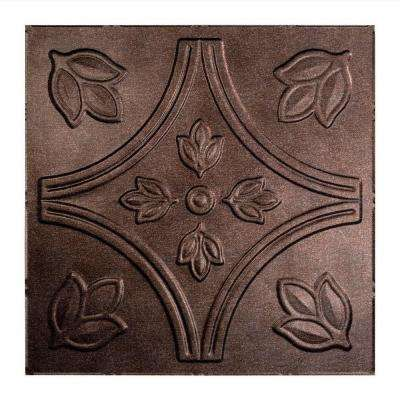 Traditional 5 - 2 ft. x 2 ft. Lay-in Ceiling Tile in Smoked Pewter