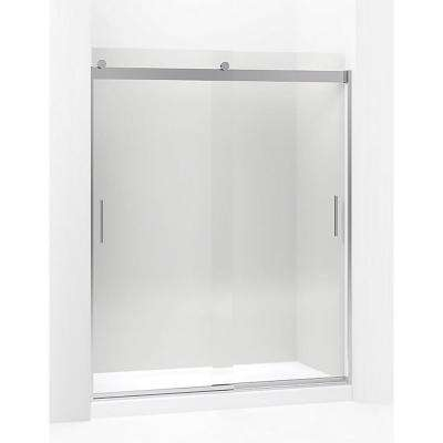 Levity 59.625 in. W x 74 in. H Frameless Sliding Shower Door in Brushed Nickel