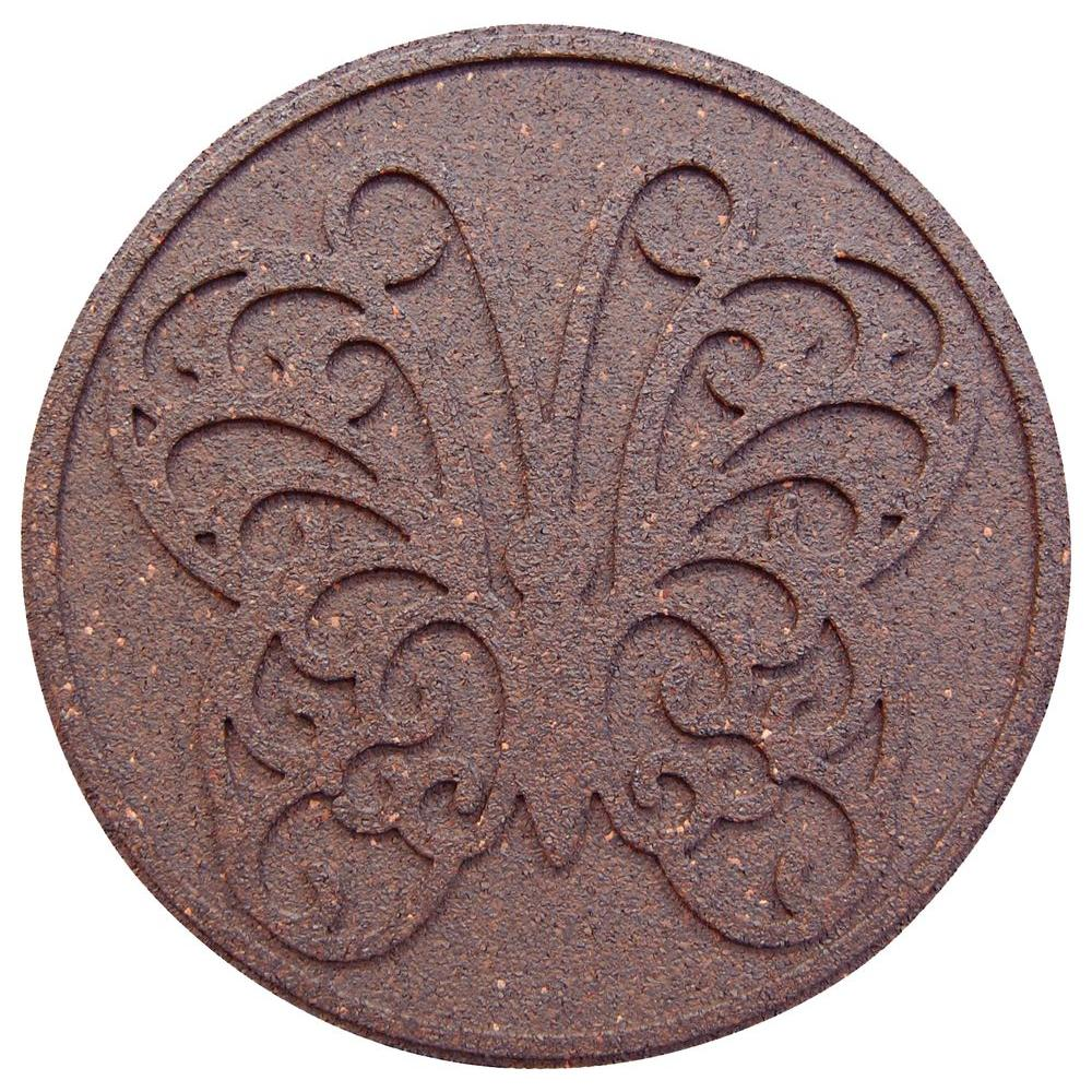 18 in. x 18 in. Reversible Butterfly Terra Cotta Stepping Stone