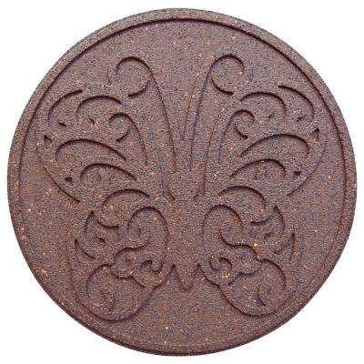 18 in. x 18 in. Reversible Butterfly Terra Cotta Stepping Stone (2-Case)
