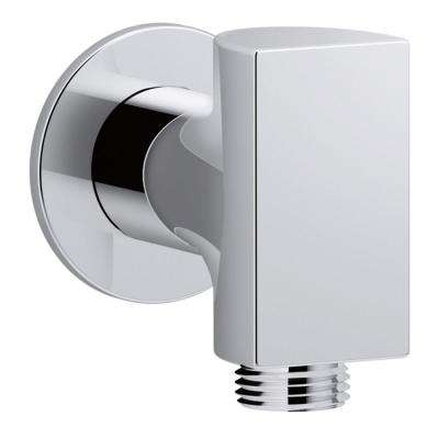 Exhale 1/2 in. Metal 90-Degree NPT Wall-Mount Supply Elbow with Check Valve in Polished Chrome