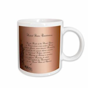 fc59ed54 3dRose PS Vintage We the People Statue of Liberty us Constitution Vintage  Art 11 oz. White Ceramic Coffee Mug-mug_79100_1 - The Home Depot