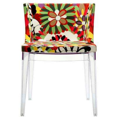 Clear Flower Dining Side Chair