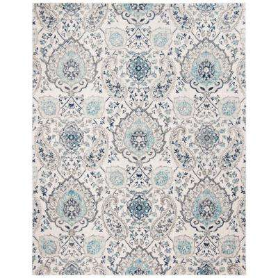 Madison Cream Light Gray 8 Ft X 10 Area Rug