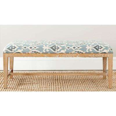 Zambia Blue Pattern Bench